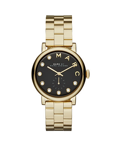 Marc Jacobs Women's Gold-Tone Baker Three Hand Stainless Steel Watch