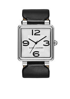 Marc Jacobs Women's Vic Black Leather Three Hand Watch
