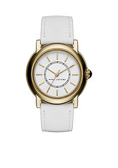 Marc Jacobs Women's Courtney Three-Hand White Leather Watch