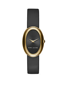Marc Jacobs Women's Cicely Two-Hand Black Leather Strap Watch