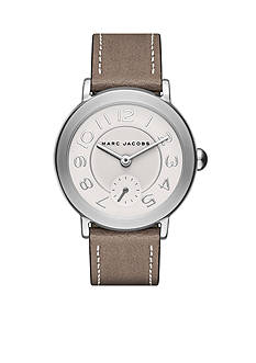Marc Jacobs Women's Riley Brown Leather Strap Watch