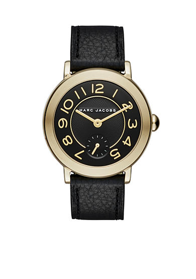 Marc Jacobs Women's Riley Black Leather Strap Watch