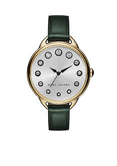 Marc Jacobs Women's Gold-Tone Betty Green Leather Watch