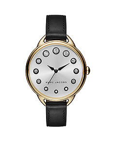 Marc Jacobs Women's Betty Black Leather Strap Watch