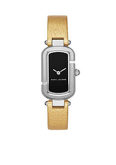 Marc Jacobs Women's Jacobs Stainless-Steel and Gold Leather Two-Hand Watch