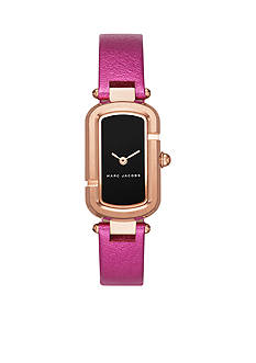 Marc Jacobs Women's Jacobs Rose Gold-Tone and Fuchsia Leather Two-Hand Watch