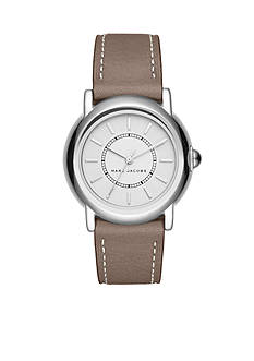 Marc Jacobs Women's Courtney Cement Leather Three-Hand Watch
