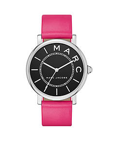 Marc Jacobs Women's Roxy Stainless-Steel and Fuchsia Leather Three-Hand Watch