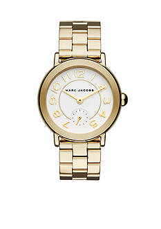 Marc Jacobs Women's Riley Gold-Tone Stainless Steel Bracelet Watch