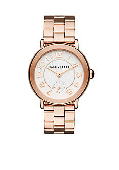 Marc Jacobs Women's Riley Rose Gold-Tone Stainless Steel Bracelet Watch