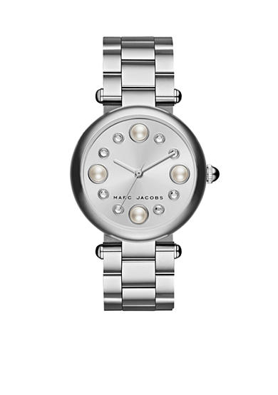 Marc Jacobs Women's Dotty Three-Hand Silver Stainless Steel Bracelet Watch