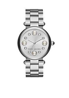 Marc Jacobs Women's Dotty Three-Hand Silver Stainless Steel Bracelet Watch