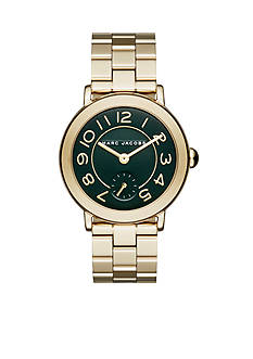 Marc Jacobs Women's Riley Gold-Tone Stainless Steel Bracelet Watch
