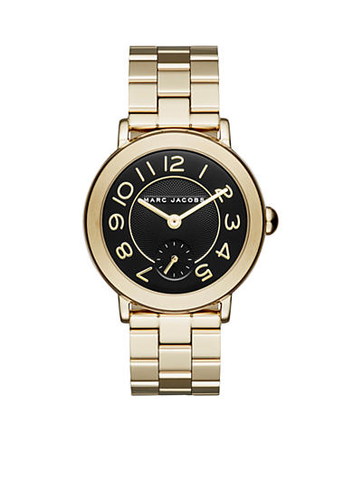 Marc Jacobs Women's Gold-Tone Riley Three Hand Watch