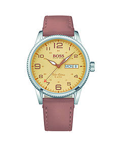 BOSS by Hugo Boss Men's Pilot Vintage Brown Leather Watch