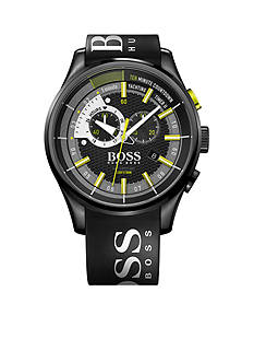 BOSS by Hugo Boss Men's Yachting Time II Black IPB Case Watch