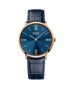 BOSS by Hugo Boss Men's Jackson Blue Leather Watch