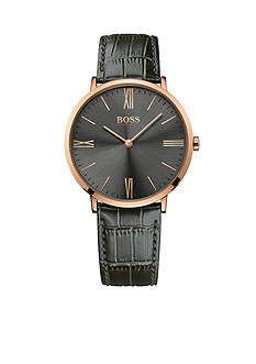 BOSS by Hugo Boss Men's Jackson Grey Leather Watch