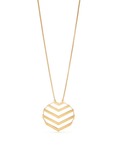 Trina Turk Chevron Flexible Long Pendant Necklace