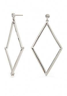 Trina Turk Pierced Open Diamond Drop Earring