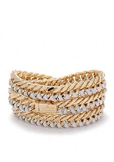 Trina Turk Leather Triple Wrap Bracelet