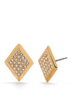 Trina Turk Pierced Pave Diamond Stud Earrings