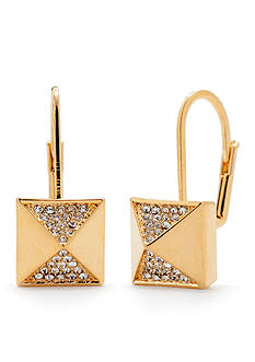 Trina Turk Pave Pyramid Leverback Drop Earrings