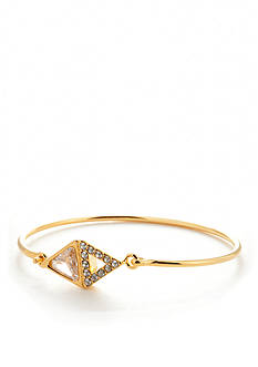Trina Turk Triangle Stone Thin Cuff Bracelet