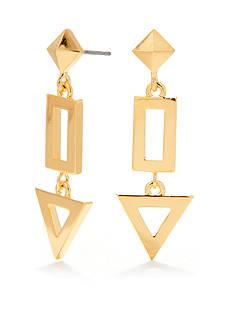 Trina Turk Pierced Geometric Linear Drop Earrings