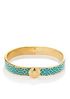 Trina Turk Hinged Enamel Signature Bangle Bracelet