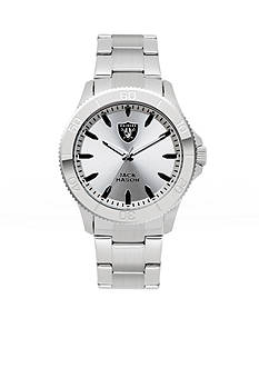Jack  Mason Men's Oakland Raiders Silver Sport Watch