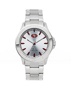 Jack  Mason Men's San Franciso 49ers Silver Sport Watch