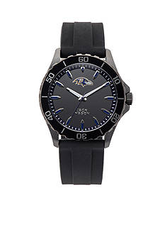 Jack  Mason Men's Baltimore Ravens Sport Silicone Strap Watch