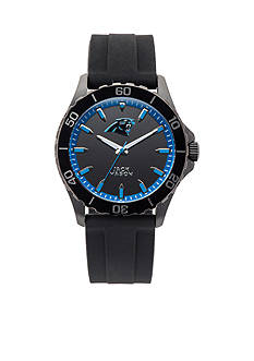 Jack  Mason Men's Carolina Panthers Sport Silicone Strap Watch