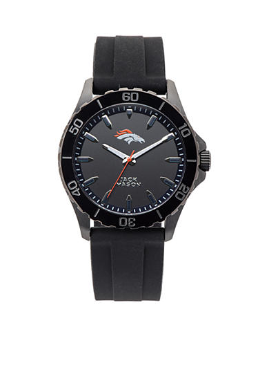 Jack  Mason Men's Denver Broncos Sport Silicone Strap Watch