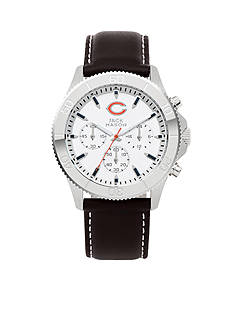 Jack  Mason Men's Chicago Bears Chronograph Leather Strap Watch