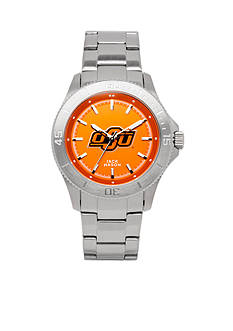 Jack Mason Men's Oklahoma State Sport Bracelet Team Color Dial Watch