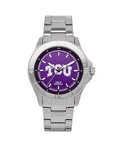 Jack Mason TCU Men's Sport Bracelet Team Color Dial Watch