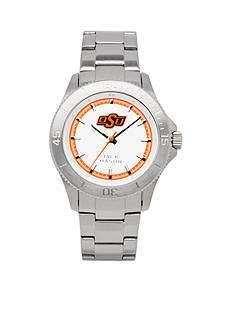 Jack Mason Men's Oklahoma State Sport Bracelet Silver Dial Watch