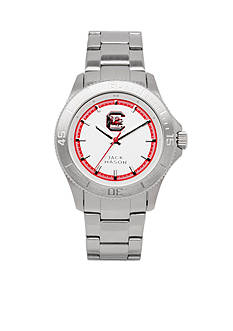 Jack Mason Men's South Carolina Sport Bracelet Silver Dial Watch