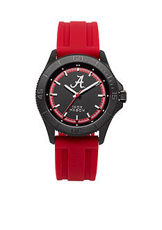 Jack Mason Men's Alabama Blackout Silicone Strap Watch