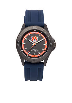 Jack Mason Men's Auburn Blackout Silicone Strap Watch