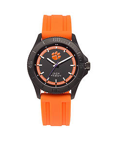 Jack Mason Men's Clemson Blackout Silicone Strap Watch