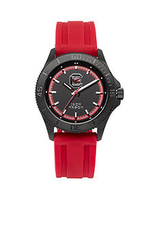 Jack Mason Men's South Carolina Blackout Silicone Strap Watch