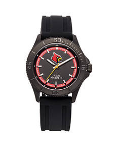 Jack Mason Men's Louisville Blackout Silicone Strap Watch