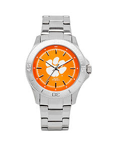 Jack Mason Women's Clemson Sport Bracelet Team Color Dial Watch