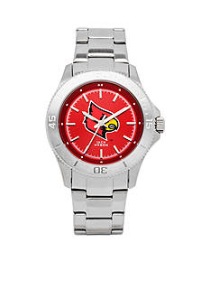 Jack Mason Women's Louisville Sport Bracelet Team Color Dial Watch