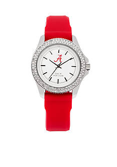Jack Mason Women's Alabama Glitz Silicone Strap Watch