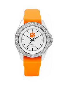Jack Mason Women's Clemson Glitz Silicone Strap Watch