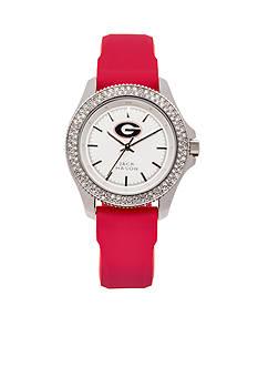 Jack Mason Women's Georgia Glitz Silicone Strap Watch